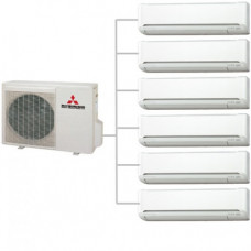 Мульти сплит-система   Mitsubishi Electric MXZ-6D122VA / MSZ-SF25VE *6